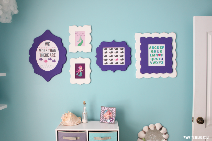 Mermaid Themed Room Gallery Wall