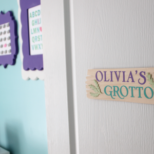 Balsa Wood Bedroom Door Sign