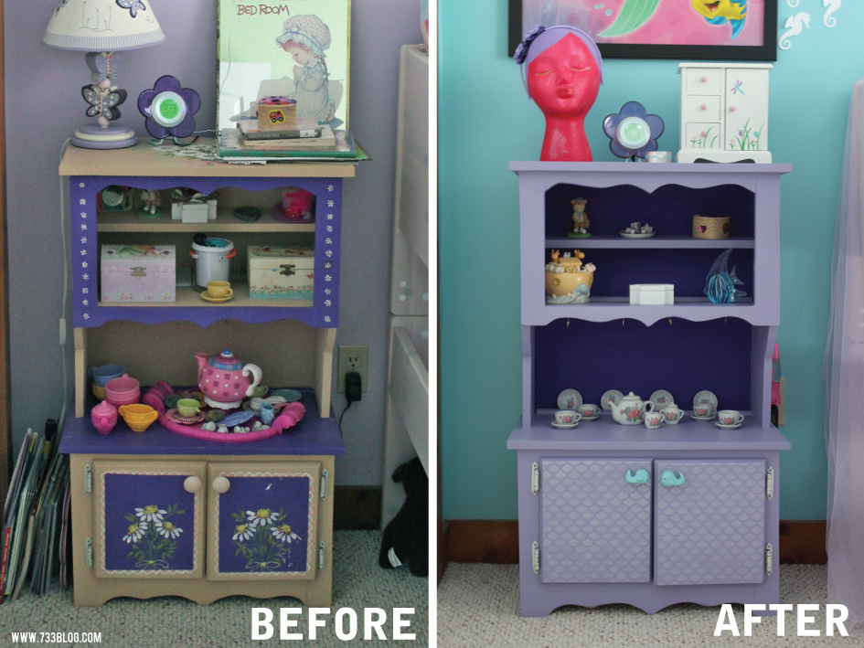 DIY Hutch Makeover with Clay Cabinet Pulls