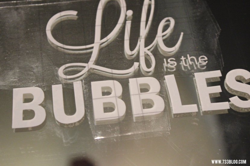 "DIY ""Life is the Bubbes"" Mirror"