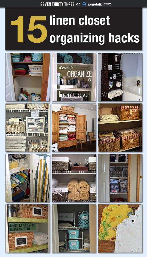 Linen Closet Organization Hacks