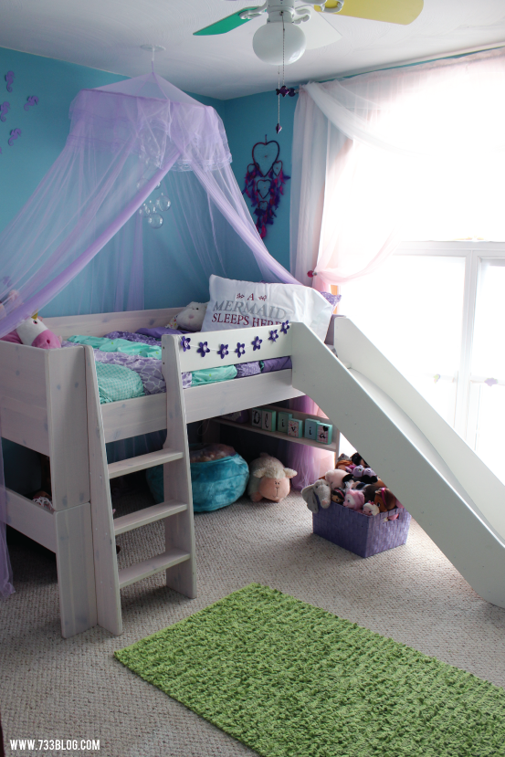 Mermaid Themed Little Girls Room