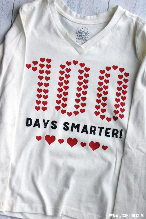 100 Days of School DIY Shirt