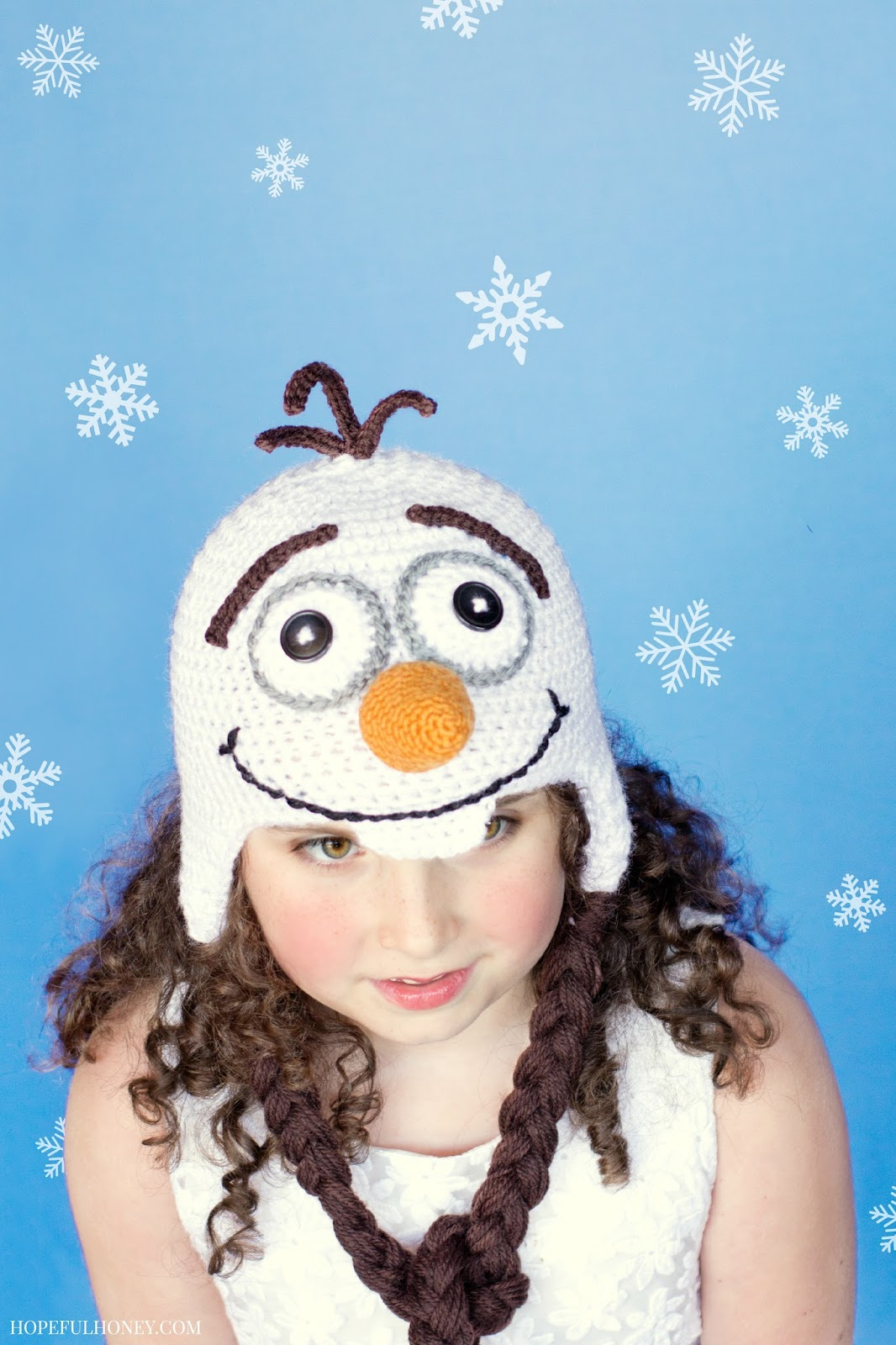 Olaf Inspired Hat from Hopeful Honey