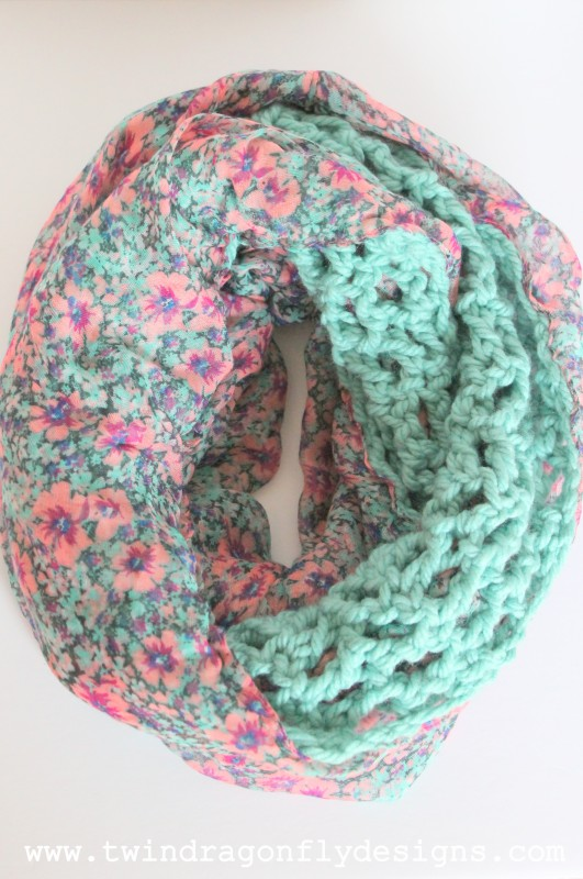 Crochet Chiffon Infinity Scarf from Twin Dragonfly Designs
