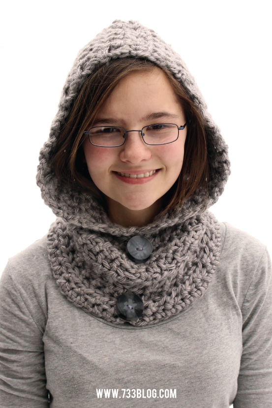 Crochet Hooded Cowl #projectcrochet