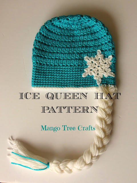 Elsa Inspired Crochet Hat from Mango Tree Crafts