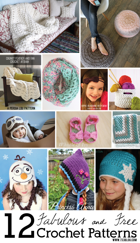 12 Fabulous & Free Crochet Patterns