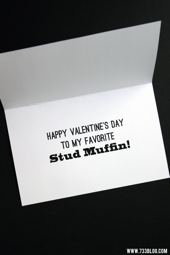 Free Printable Stud Muffin Valentine's Day Card