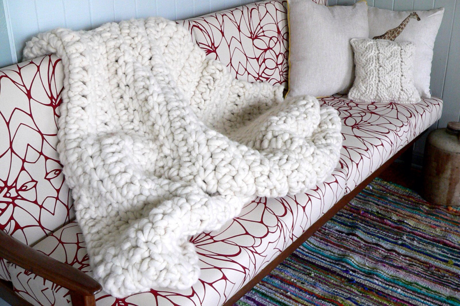 Crochet Chunky Throw from Homelea Lass