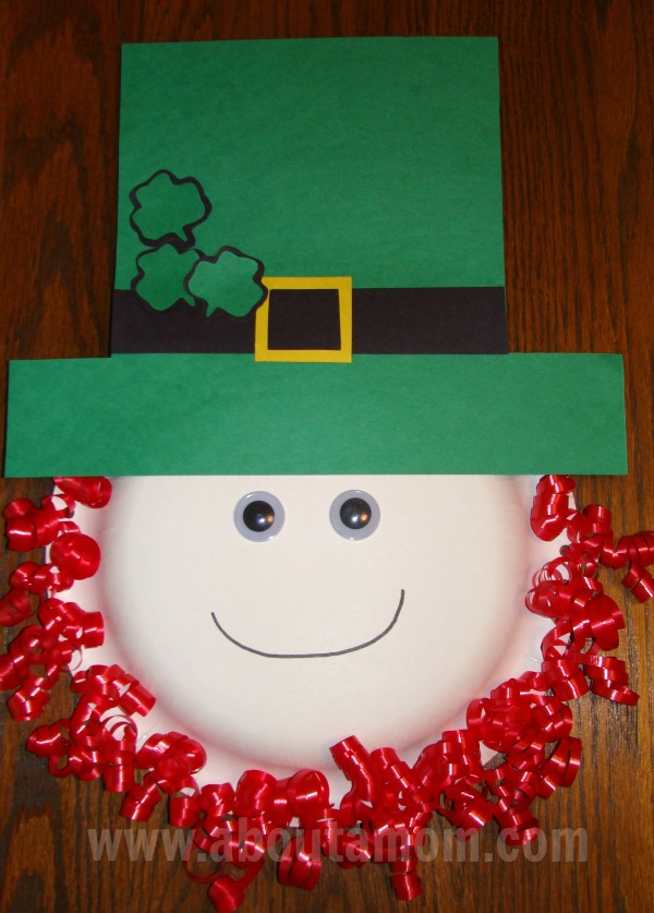 Paper Plate Leprechaun Kids Craft