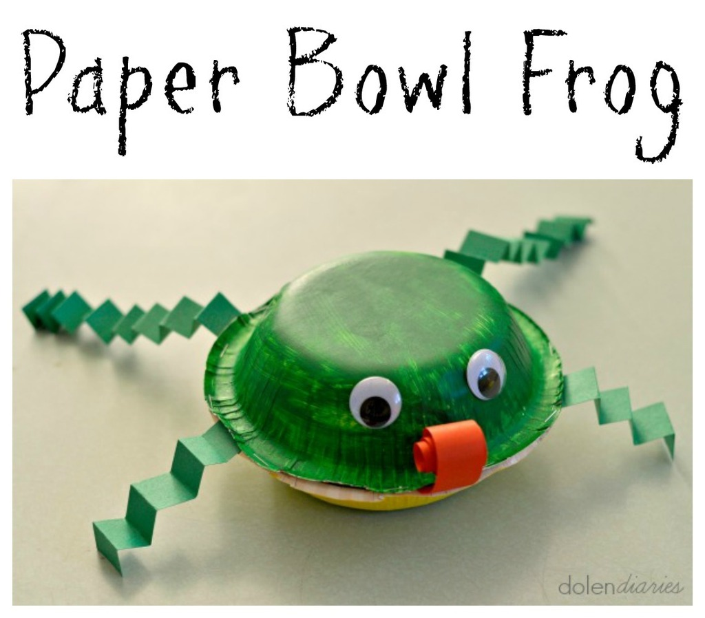 DIY Paper Bowl Frog Kids Craft