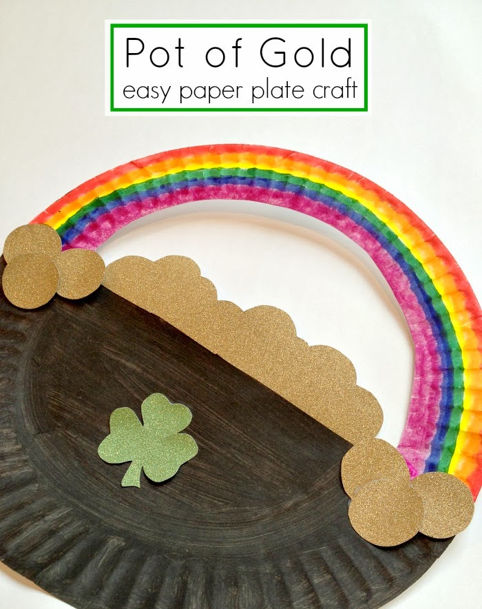 Paper Plate Pot of Gold Kids Craft