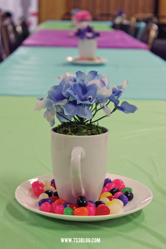 Alice in Wonderland Flower Centerpieces