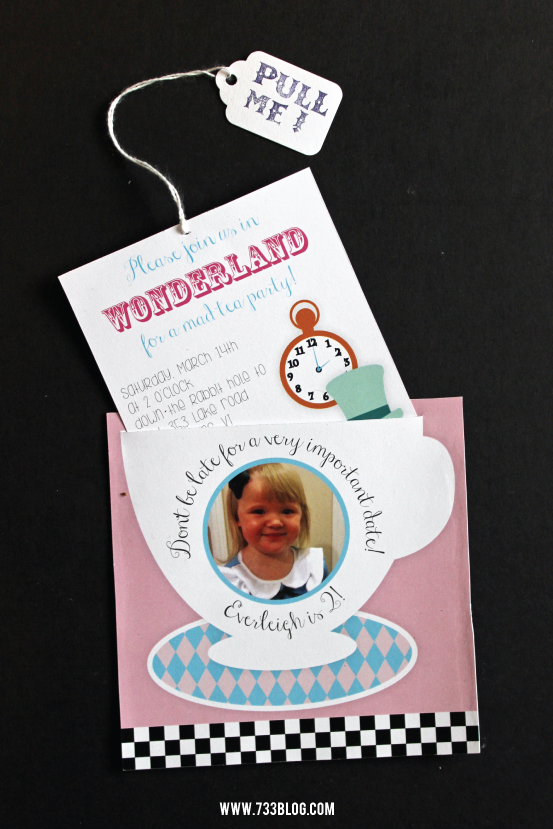 Alice in Wonderland Birthday Party Invite