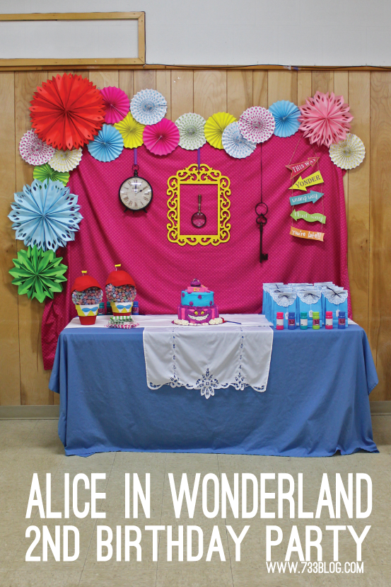 Alice in Wonderland 2nd Birthday Party