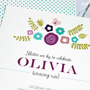 Printable Butterfly Birthday Invitation