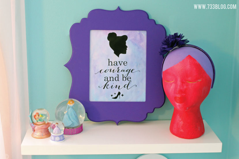 have courage and be kind - Cinderella Print and Paint Artwork