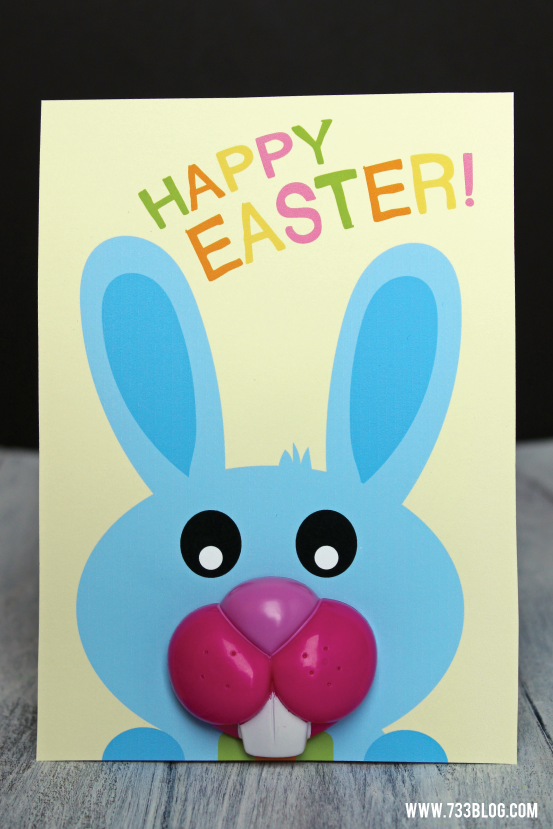 Free Printable Easter Bunny Lollipop Card