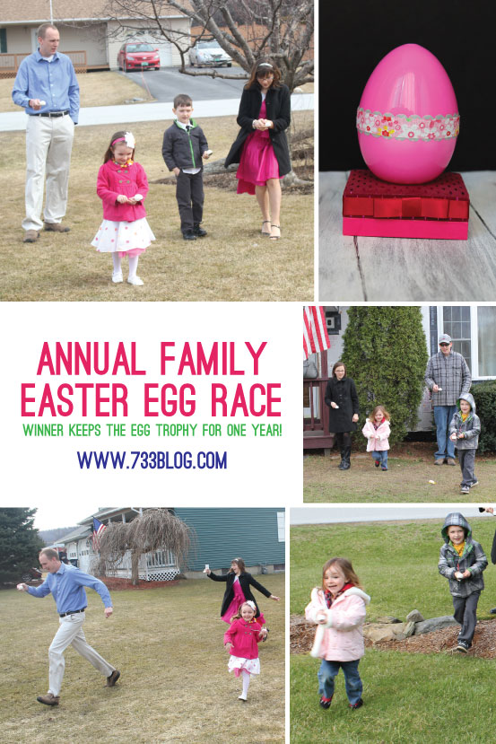 Easter Tradition: Annual Family Egg Race