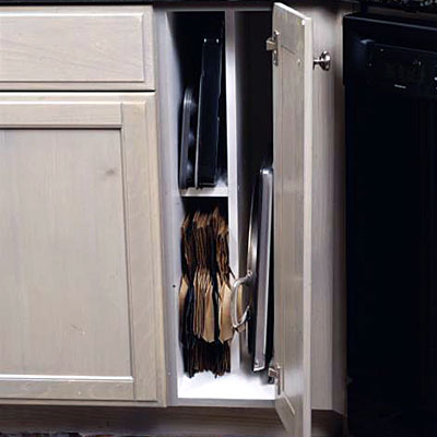 Vertical Cabinet Storage Kitchen Organization