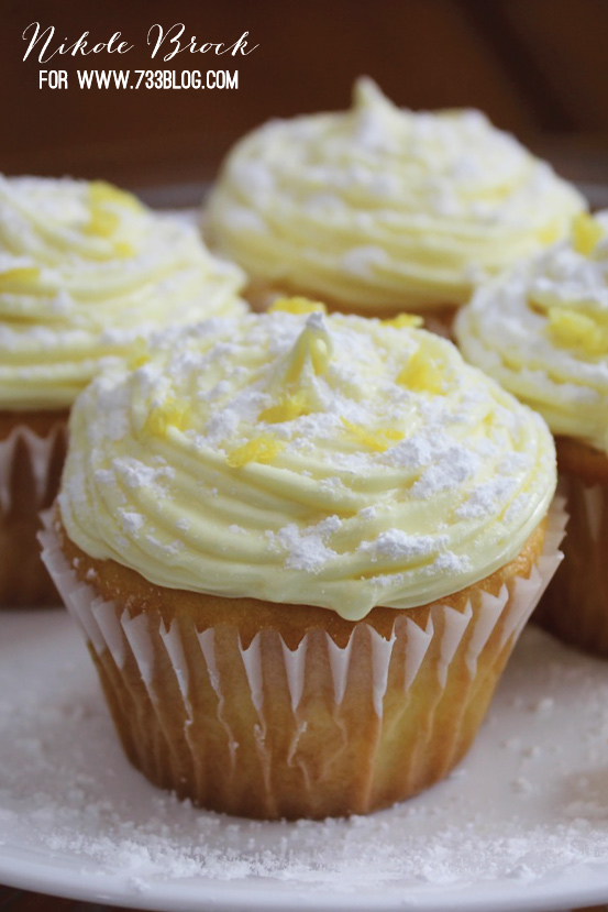 Savannah Smiles Inspired Lemon Cupcakes