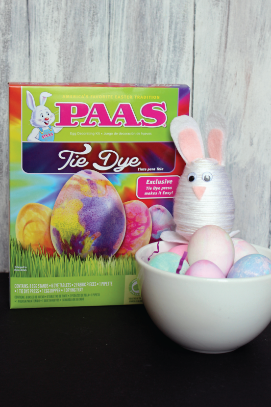 PAAS Tie Dye Easter Eggs and Yarn Wrapped Bunny