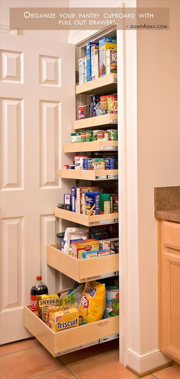 Pull out pantry drawers for easy access