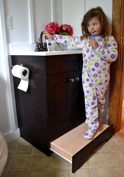 DIY Vanity Step Drawer