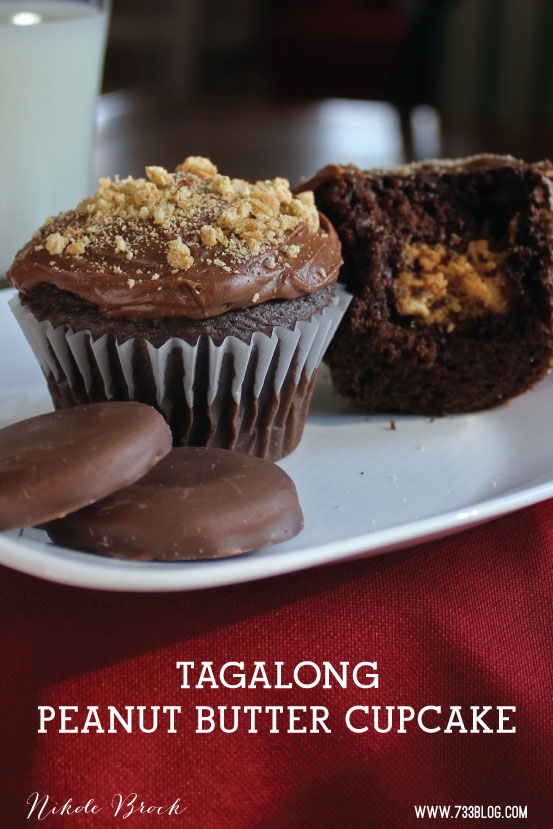 Tagalong Girl Scout Cookie INspired Peanut butter Cupcake