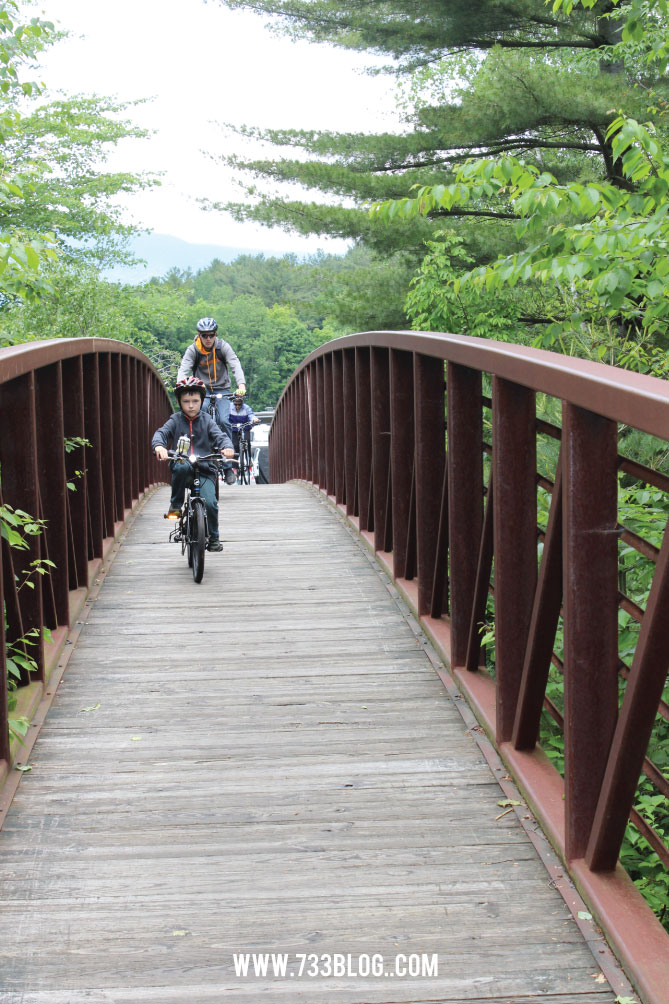 Family Bike Ride in Stowe, Vermont
