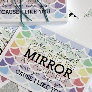 Colbie Caillat's Try Lyrics Postcard Printable