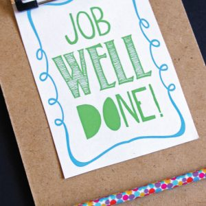 Job Well Done Printable