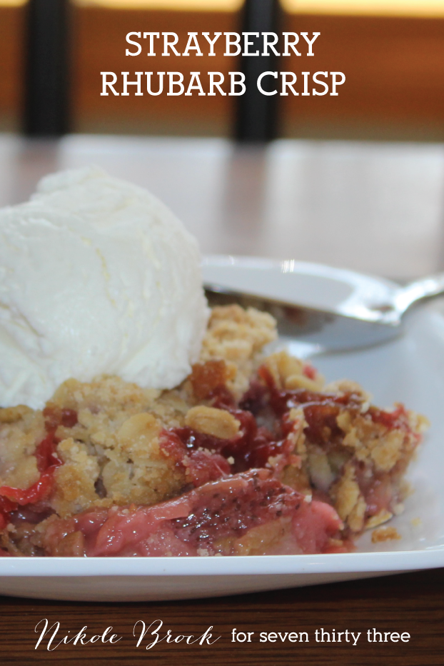 Delicious Strawberry Rhubarb Crisp Recipe