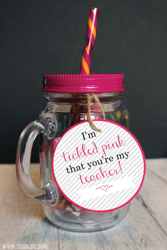 Tickled Pink Mother's Day Gift Idea with Free Printable Tags
