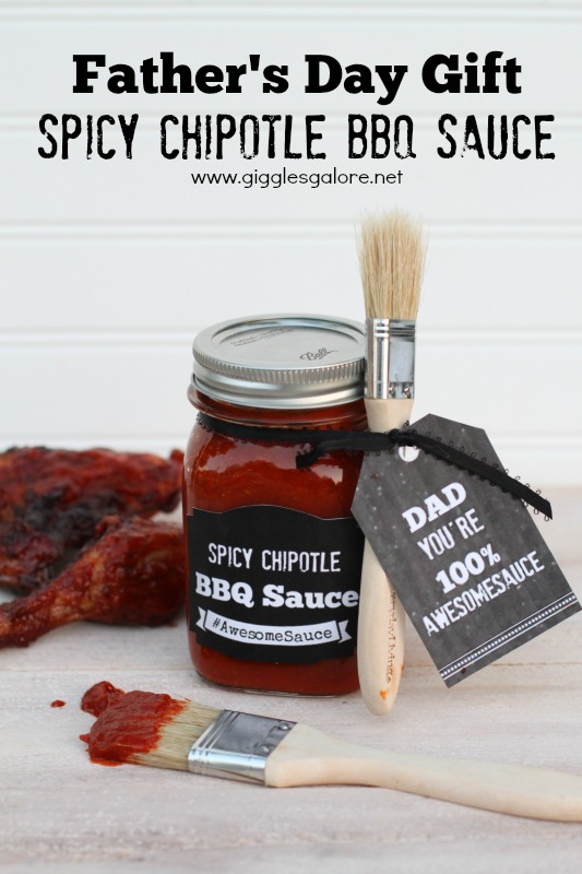 Spicy Chipotle BBQ Sauce - Father's Day Gift Idea