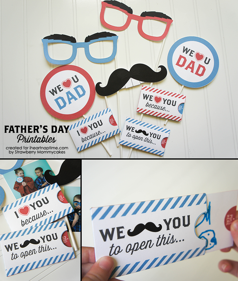We Love Dad Father's Day Printables