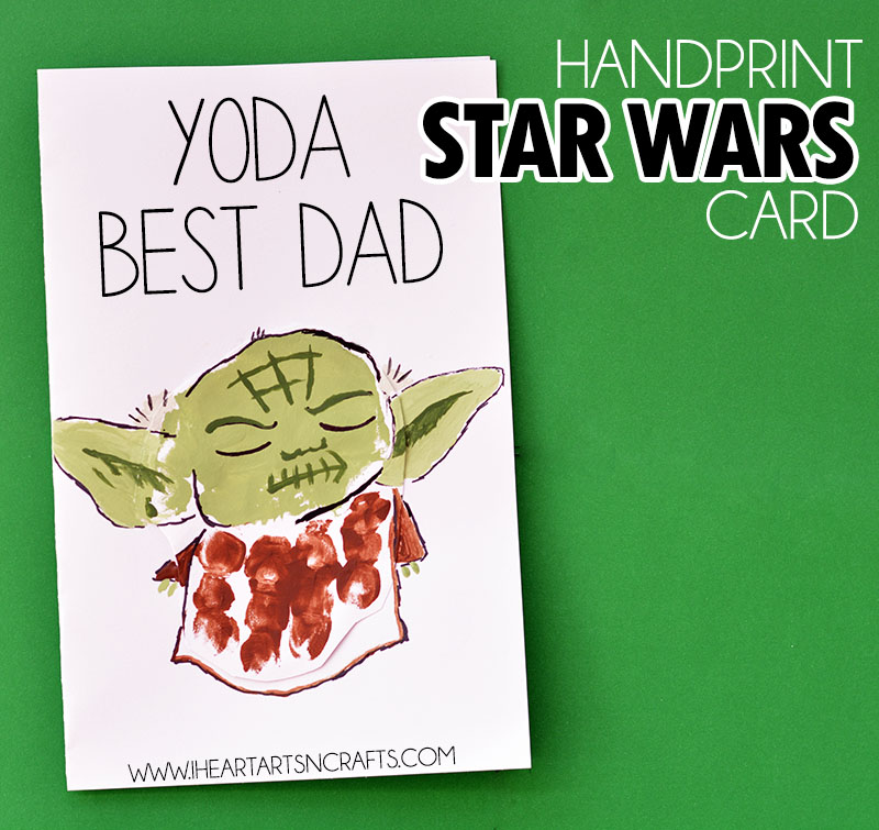 Handprint Yoda Father's Day Card
