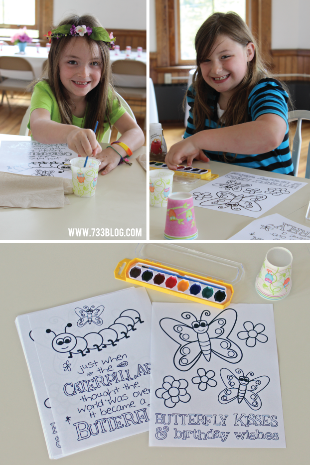 Butterfly Party Printable Activity