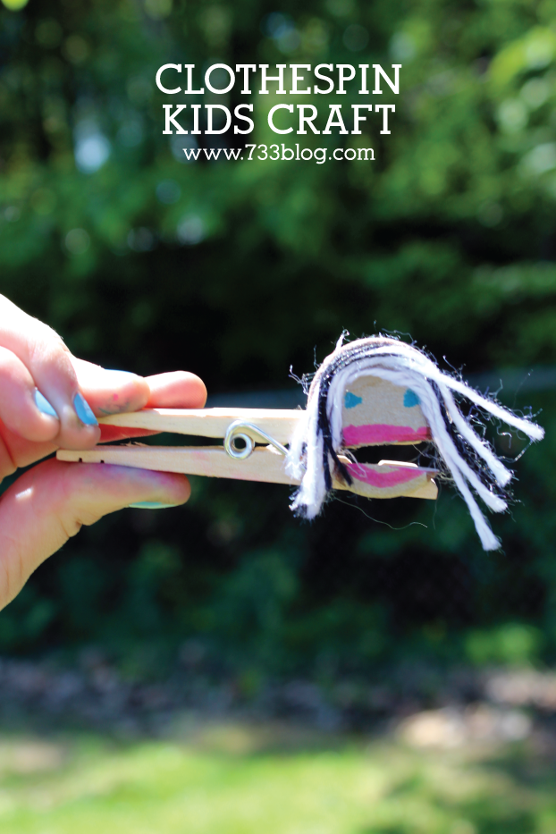 Clothespin Kids Craft