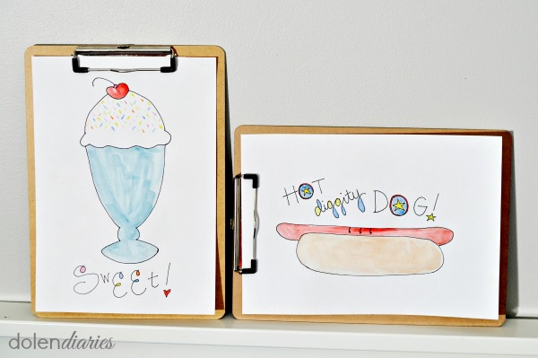 hot dogs and sundaes