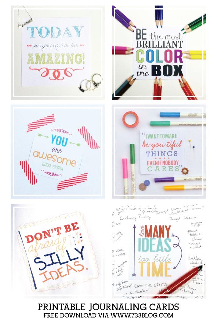 Printable Journaling Cards via @733blog