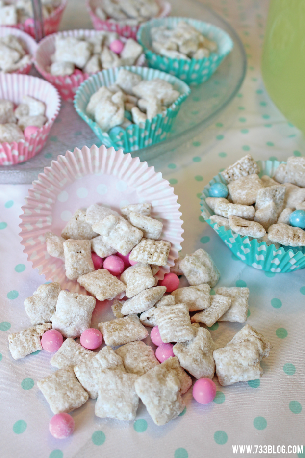 Pink and Blue Muddy Buddies
