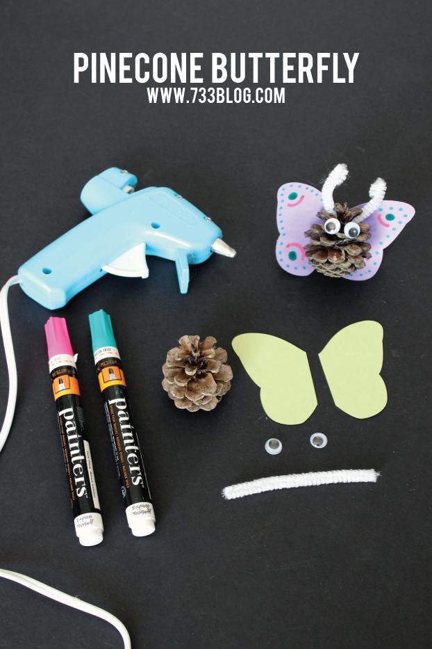 Pinecone Butterflies Kids Craft