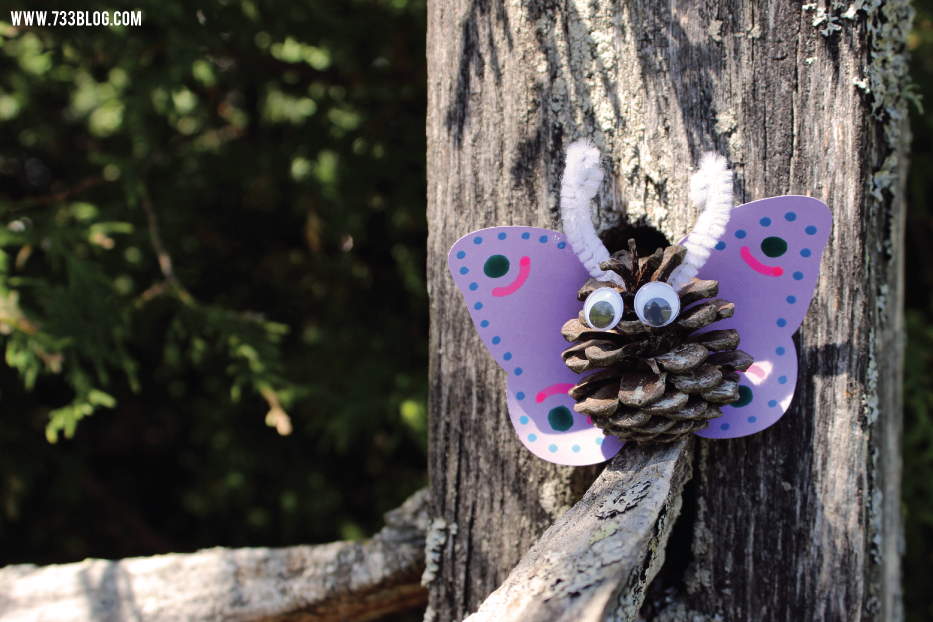 Pinecone Butterfly Kids Craft