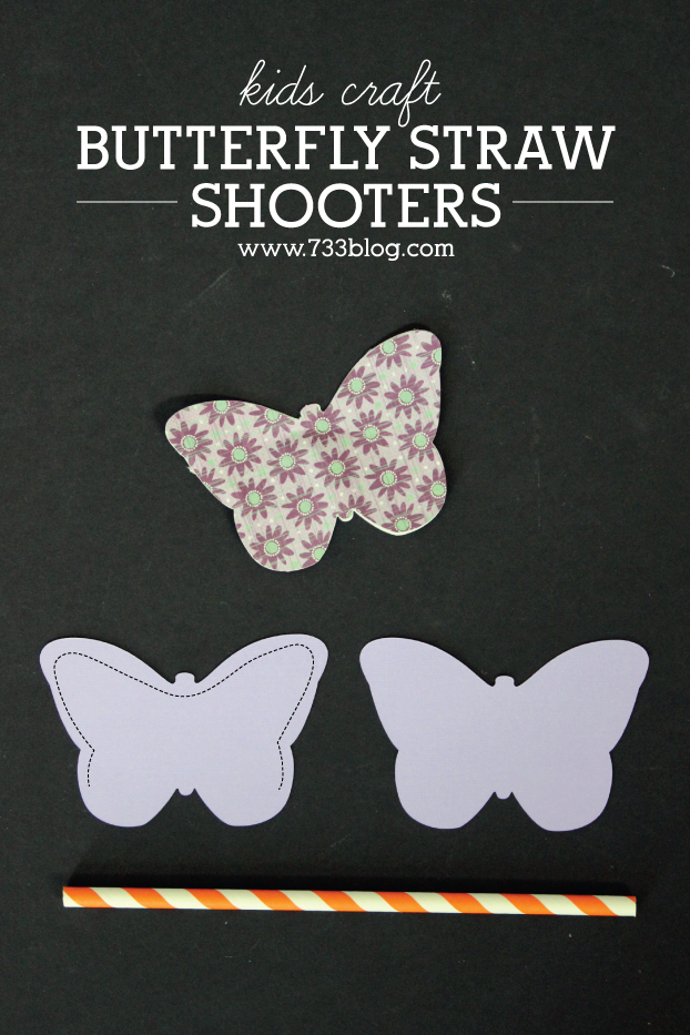 Butterfly Straw Shooters Kids Craft