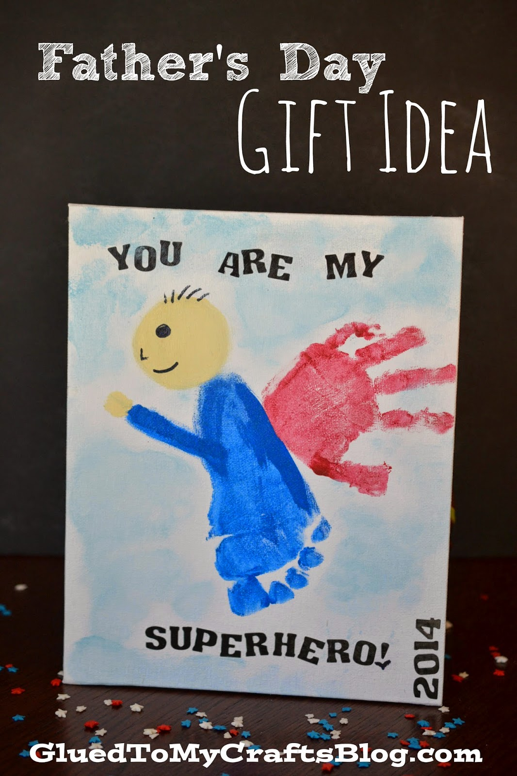 Superhero Handprint Father's Day Gift