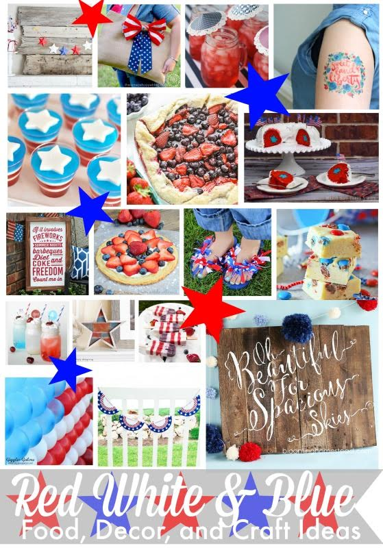 85+ Red, White and Blue Projects & Recipes
