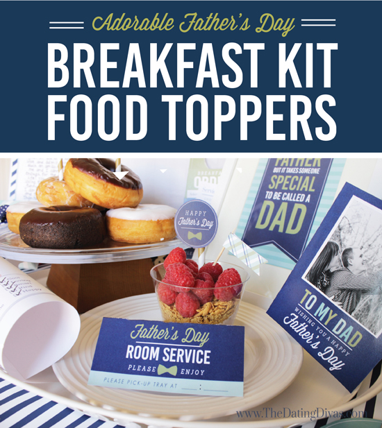 DIY Printable Father's Day Breakfast In Bed Kit
