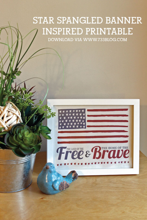Star Spangled Banner Inspired Free Printable